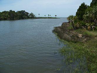 Yankeetown, Florida - View just west of Yankeetown