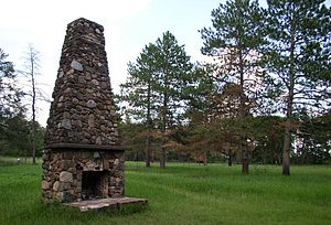 Saint Croix State Park - The chimney of the recreation hall is the only remains of the Yellowbanks Civilian Conservation Corps camp