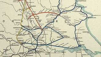 York and North Midland Railway - Image: York & North Midland Railway in 1854