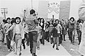 Youth from the Florencia barrio of South Central Los Angeles arrive at Belvedere Park for La Marcha Por La Justicia, on January 31, 1971.jpg