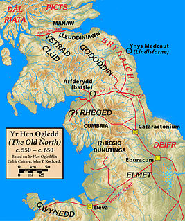 area of northern Britain between c. 500 and c. 800
