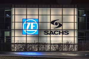 ZF Sachs - Logo at the production site in Schweinfurt