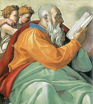 Zechariah (Hebrew prophet) - Zechariah as depicted on the ceiling of the Sistine Chapel