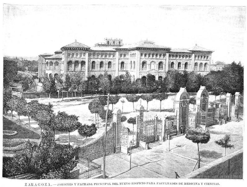 File zaragoza jardines y fachada principal del nuevo for Jardin zaragoza