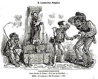 Zé Povinho - Image: Ze povinho lanterna magica 1875