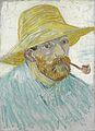 Zelfportret met pijp en strohoed - s0163V1962 - Van Gogh Museum.jpg