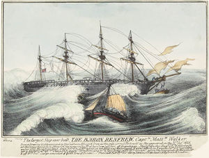 "Baron of Renfrew (ship) - Image: ""Baron Renfrew"" 1825"