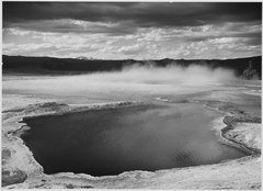 """Fountain Geyser Pool, Yellowstone National Park,"" Wyoming, 1933 - 1942 - NARA - 520009.tif"