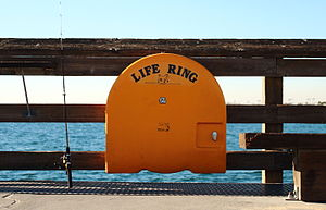"Lifebuoy - ""Life ring"" in Newport Beach, California."