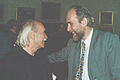 """""""The Moldavian poet, screenwriter and film director Gheorghe Voda (left)"""" (90th years). (5804080531).jpg"""