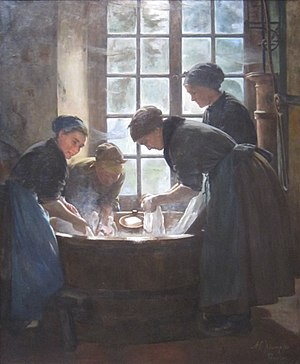 Anna Elizabeth Klumpke - Image: 'In the Wash house' by Anna Elizabeth Klumpke, 1888