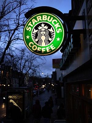 MobileStar - Starbucks coffee shop sign