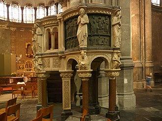 Saint Mary's Royal Church - Image: Église Royale Ste Marie Schaerbeek chaire