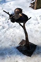 Ćwirek Sparrow sculpture