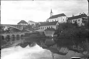 Črnomelj - Historical photograph of Črnomelj from the 1920s