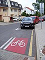 Šátalská, od Meteorologické, cyklistický pruh (01).jpg