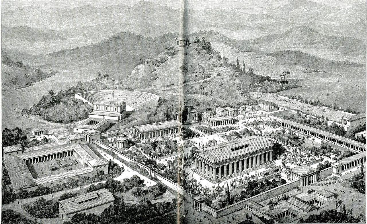 Αναπαράσταση της Ολυμπίας όπως ήταν στην αρχαιότητα