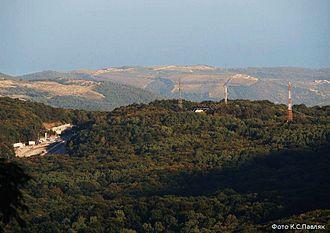 Angarskyi Pass - Angarskyi Pass view from Chatyr-Dag.