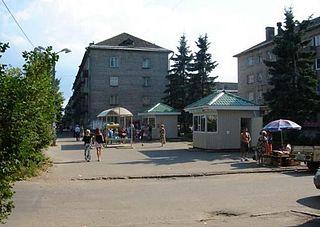 Volkhov Town in Leningrad Oblast, Russia