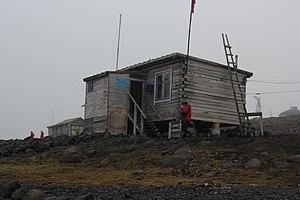 Hooker Island - Post Office. Tikhaya Bay