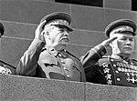 Сталин и Вершинин на первом праздновании Дня танкиста.jpg
