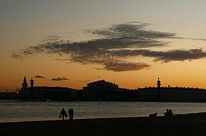 Стрелка Васильевского острова, закат.jpg