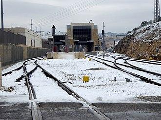 Jerusalem–Malha railway station - Image: תחנת הרכבת מלחה בשלג
