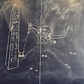 """Otto"" the chalkboard drawing robot at Long Now's Interval salon - The first robotically-drawn cat poop? (2015-04-16 14.18.54 by Aaron Muszalski).jpg"
