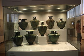 0151 - Archaeological Museum, Athens - Bronze pitchers - Photo by Giovanni Dall%27Orto, Nov 11 2009.jpg