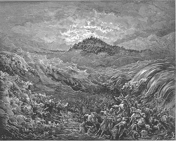 홍해에 빠져 죽은 애굽 군대