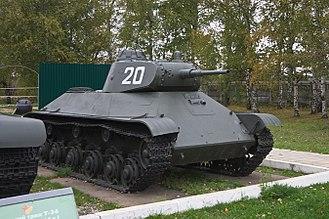 T-50 tank - T-50 at the Kubinka Tank Museum