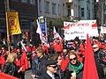 1. Mai 2013 in Hannover. Gute Arbeit. Sichere Rente. Soziales Europa. Umzug vom Freizeitheim Linden zum Klagesmarkt. Menschen und Aktivitäten (081).jpg