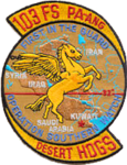 103d Fighter Squadron Operation Southern Watch Emblem.png