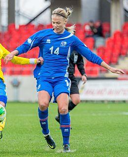Dagný Brynjarsdóttir association football player, Iceland national team selection