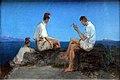 1833 Blechen Drei Fischer am Golf von Neapel anagoria.JPG