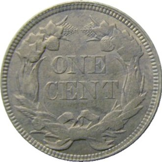 Coinage Act of 1857 - Image: 1857.Eagle.Cent.reve rse