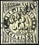 1870 5c EU de Colombia linear used YvLC6 Mi55x.jpg