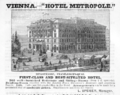 1885 Hotel Metropole Vienna ad Harpers Handbook for Travellers in Europe.png
