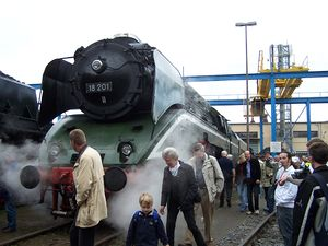 Meiningen Steam Locomotive Works - Locomotive 18 201 at the 2007 Steam Festival