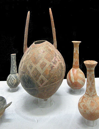 History of Cyprus - Red Polished Ceramics from Enkomi, 1900-1725 BC. St. Barnabas Archaeological Museum, Salamis, Cyprus