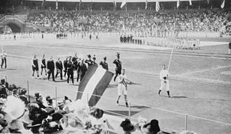 Netherlands at the 1912 Summer Olympics - The team of the Netherlands at the opening ceremony.
