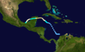 1922 Atlantic hurricane 4 track.png
