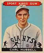 1933 Goudey Sport Kings 42 Carl Hubbell