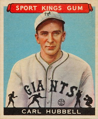 Carl Hubbell - Image: 1933 Goudey Sport Kings 42 Carl Hubbell