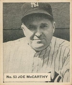 Joe McCarthy (manager) - 1936 Goudey baseball card of Joe McCarthy