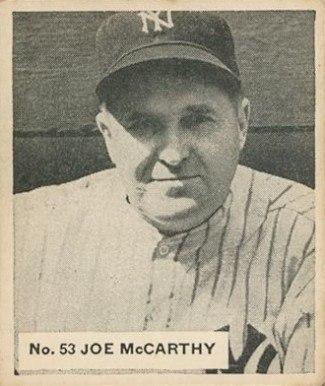 1936 Goudey Joe McCarthy