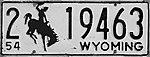 1954 Wyoming license plate.JPG