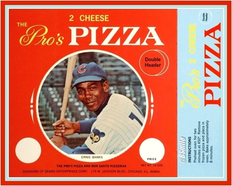 1967 Ernie Banks Pros Pizza Color Disc