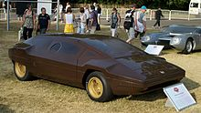 Side view of the Lancia Sibilo concept car