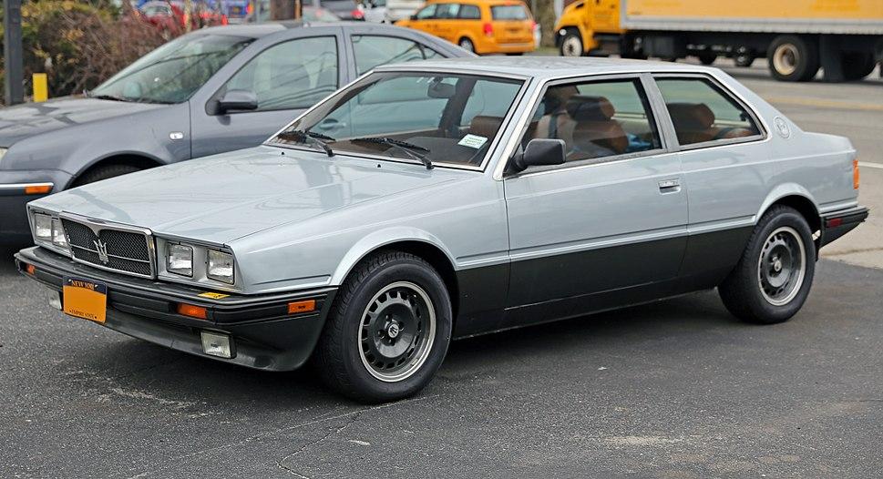 1985 Maserati Biturbo E, front left (US)